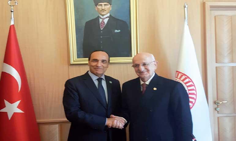Habib El Malki s'entretient avec son homologue turc le président de la Grande Assemblée nationale  de Turquie