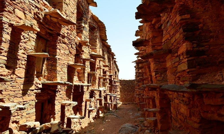Situé dans la commune d'Aït M'zal, dans la province de Chtouka Aït Baha, dont l'histoire remonte à près de 760 ans, le grenier collectif traditionnel «Agadir Imchguiguilne», a été réhabilité et restauré. Ph : MAP
