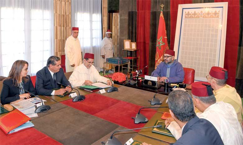 En juin dernier, S.M. le Roi Mohammed VI avait présidé, au Palais Royal à Rabat, une réunion consacrée à la problématique de l'eau.     Ph. MAP