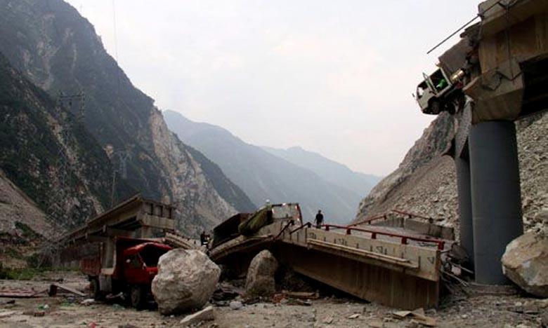L'incident s'est produit alors que certains villageois s'étaient mis à l'abri des pluies diluviennes sur le pont couvert. Ph : DR