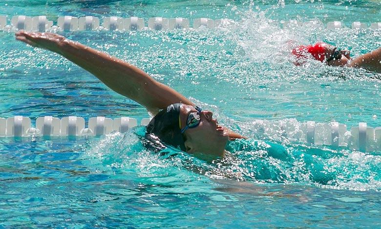 L'américaine a réalisé son premier 50 m en 27.90 sec et a poursuivi son effort pour parvenir à réaliser le record du monde. Ph : DR