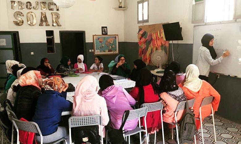 La formation d'Essaouira vise à fournir un programme d'autonomisation se déclinant en 40 ateliers dans de nombreux sites à travers le Maroc, atteignant plus de 600 adolescentes dont une vingtaine d'Essaouira même.  Ph : DR