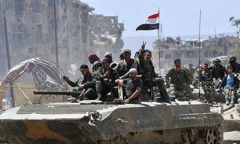 L'armée syrienne appuyée par l'aviation russe a intensifié mercredi son offensive contre les rebelles dans le sud-ouest de la Syrie.