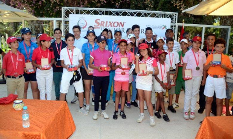 La 4e étape du Junior Srixon Tour organisée au Royal Golf d'Agadi a enregistré d'excellentes performances qui laissent bien augurer du futur du Golf marocain. Ph : MAP