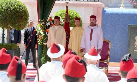 Sa Majesté le Roi Mohammed VI préside à Tanger  une réception à l'occasion de la Fête du Trône
