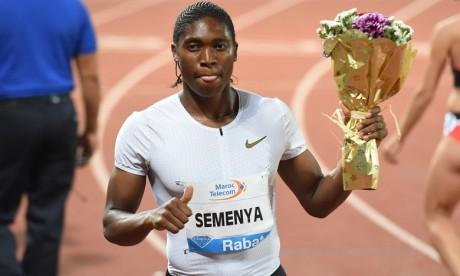 La Sud-africaine Semenya Caster réalise la meilleure performance mondiale sur 1.000m