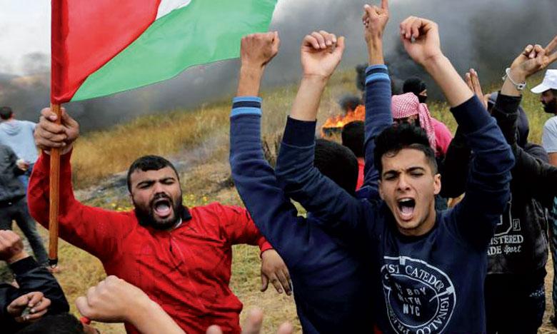 Au moins 138 Palestiniens ont été tués depuis  le début des manifestations à la frontière entre  la Bande de Gaza et Israël le 30 mars.            Ph. AFP