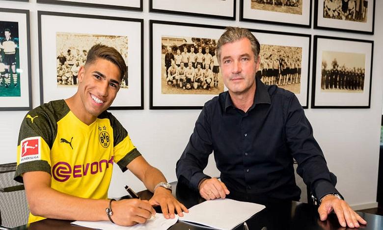 Achraf Hakimi officiellement au Borussia Dortmund