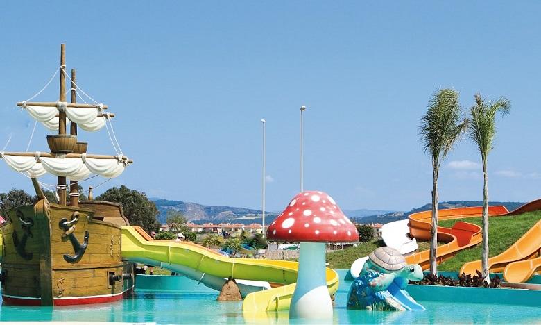 L'aquaparc Alpamare Saïdia propose plus d'une dizaine d'attractions. Ph. DR