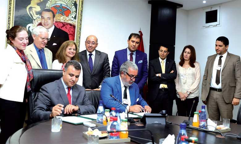 Signature d'un mémorandum d'entente entre la MAP et le Holding Marita Group relatif au développement du projet d'International Media City