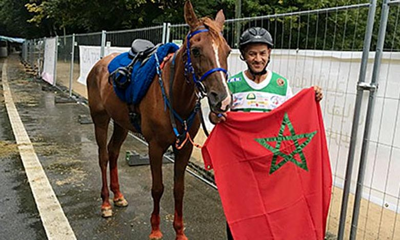 Montant la pure sang arabe Urene Nina, le cavalier Said Jeddari a effectué son parcours avec un bon chrono, tout en respectant le bon état physique de son cheval. Ph : DR