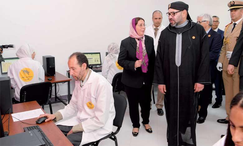 Le Centre de formation dans les métiers éducatifs et sociaux, inauguré par S.M. le Roi Mohammed VI le 19 mai 2018 à Rabat,  témoigne de l'intérêt accordé par le Souverain à l'épanouissement et l'intégration socioprofessionnelle des jeunes. Ph.  MAP