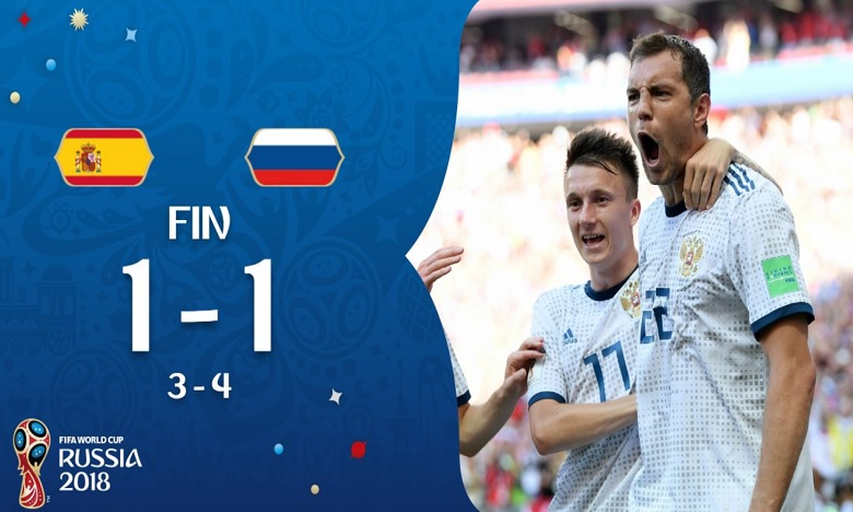 La Russie élimine l'Espagne 4 tirs au but à 3