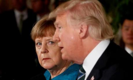 Merkel met Trump en garde