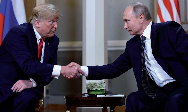 Les Présidents américain et russe peu avant leur tête-à-tête le 16 juillet 2018 à Helsinki.                                                                              Ph. AFP