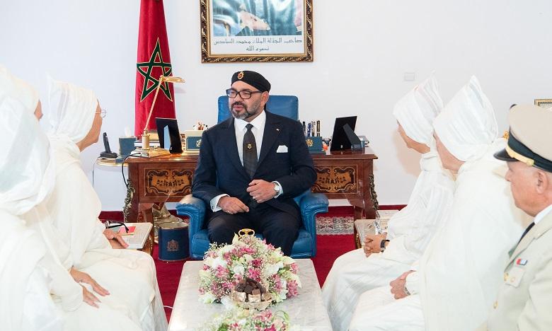S.M. le Roi, Amir Al Mouminine, reçoit la délégation officielle devant se rendre aux Lieux saints de l'Islam pour le pèlerinage