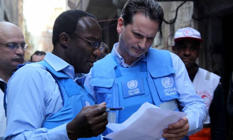 Le directeur de l'agence onusienne, Pierre Krähenbühl ( à droite)  a exprimé son inquiétude et appelé les autres membres de l'ONU à contribuer davantage au budget de l'UNRWA