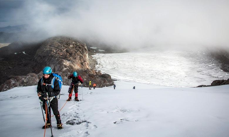 La diminution de la surface glaciaire de la Colombie correspond à la tendance mondiale, à ce rythme, le Santa Isabel pourrait disparaître dans les dix prochaines années. Ph : DR