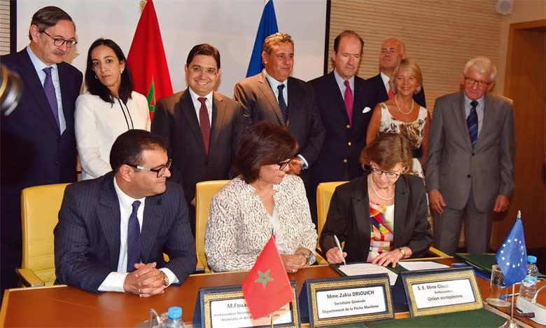 Le nouvel Accord de pêche inclut les eaux territoriales du Sahara marocain,  offre une meilleure protection des ressources halieutiques et prévoit une hausse de la contrepartie financière