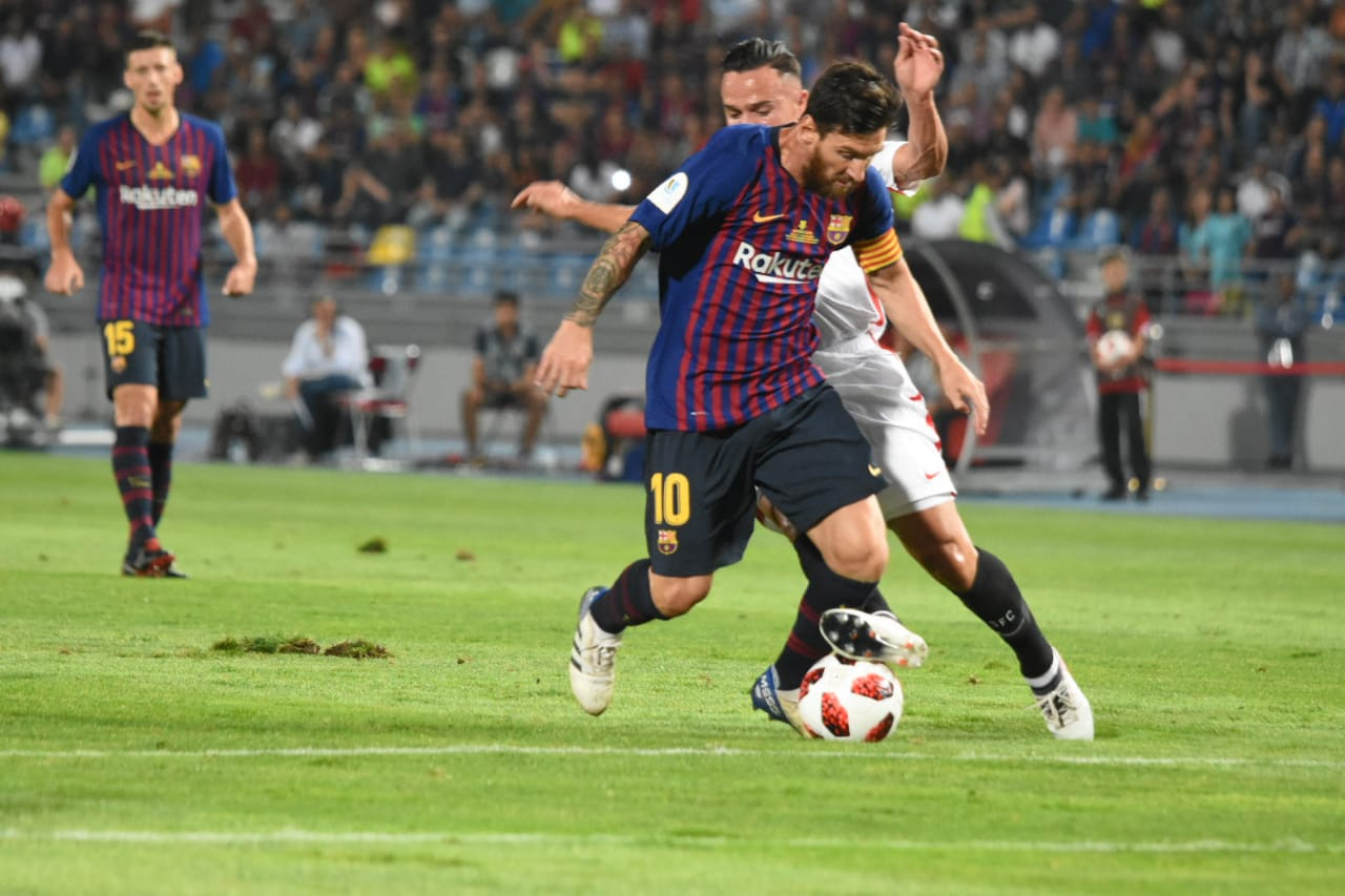 Supercoupe d'Espagne : Le Barça et Séville dos à dos au terme de la première mi-temps