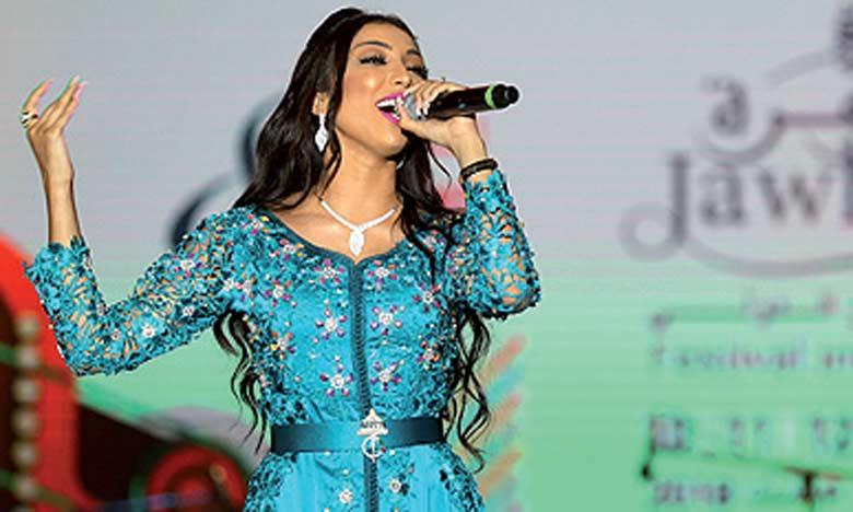 Dounia Batma s'est produite devant un public estimé à plus de 300.000 festivaliers.                                                 Ph. MAP
