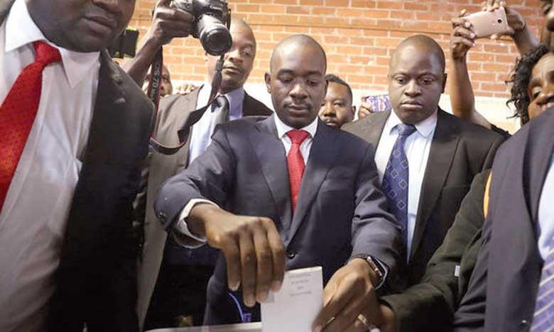 L'opposant Chamisa rejette  la victoire d'Emmerson Mnangagwa