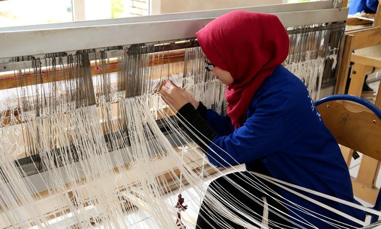 Béni Mellal réunit pas moins de 62 exposants autour d'un même objectif à savoir la promotion des produits de l'artisanat marocain et leur commercialisation. Ph : MAP