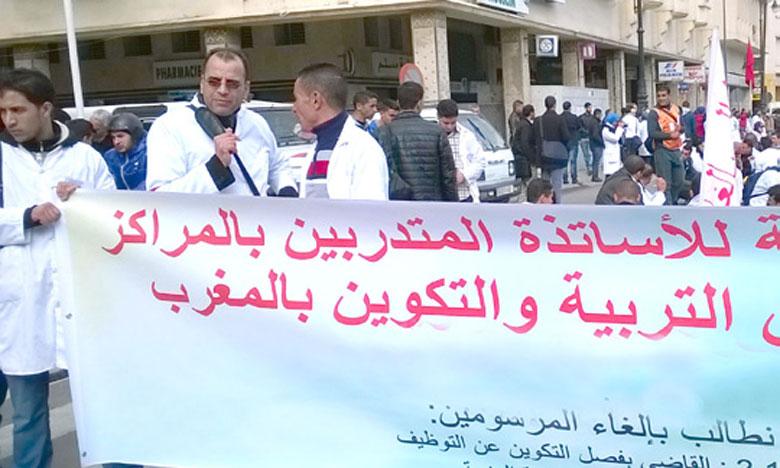 Le syndicat du parti du Chef du gouvernement apporte son soutien aux enseignants contractuels