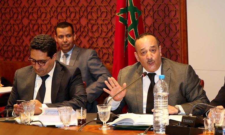 Mohamed Laaraj a réitéré la volonté du ministère d'adopter une approche participative effective sur toutes les instances concernées et d'œuvrer pour le parachèvement des chantiers en lien avec le secteur. Ph : MAP