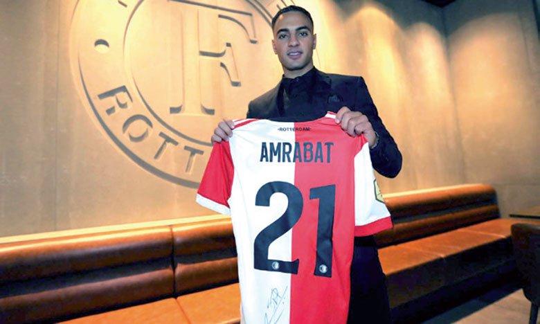 L'International marocain Sofyan Amrabat quitte Feyenoord