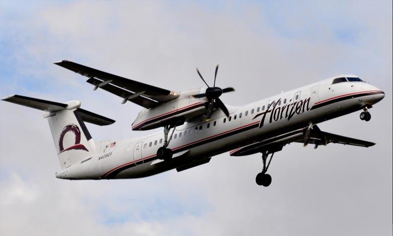 L'avion, un bimoteur à hélices Bombardier Q400, s'est écrasé dans le Puget Sound. Ph : DR