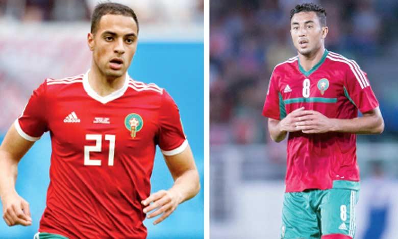 Sofyan Amrabat et Aziz Bouhaddouz.
