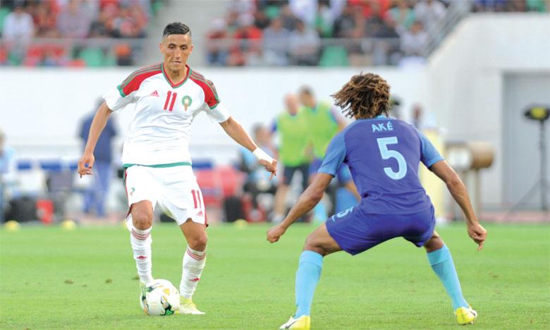 Fayçal Fajr file au Stade Malherbe de Caen