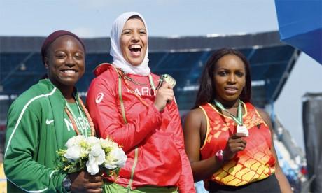 De l'or pour Soukaïna Zakour et le bronze pour Yahya Berrabah et El Bachir Mbarki