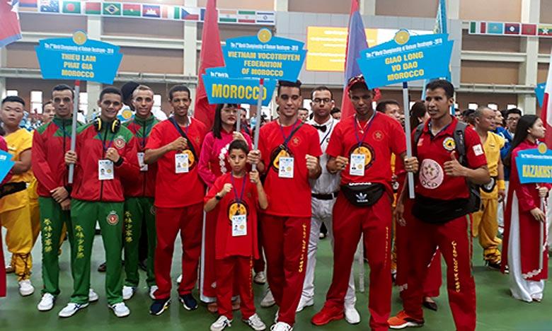 2e Championnats du monde des arts martiaux traditionnels vietnamiens : 28 médailles pour  l'équipe nationale marocaine