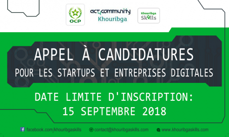 Appel à candidatures pour les startups digitales