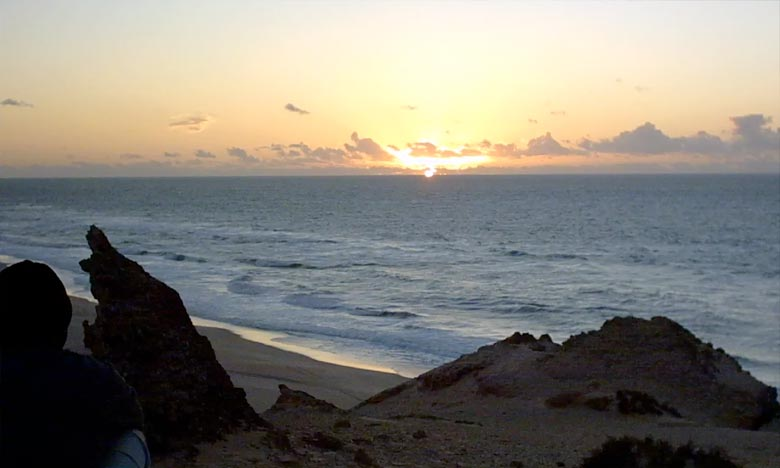 Les températures maximales sont en légère baisse de l'ordre de 39 à 42°C à l'intérieur des provinces Sud, la mer belle à agitée entre Casablanca et Dakhla. Ph : DR