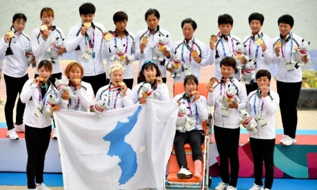 Une première médaille d'or pour la Corée unifiée aux JA