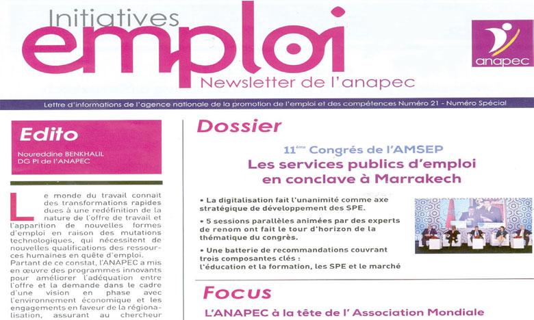 Un nouveau numéro de la lettre d'informations  de l'Anapec  vient de paraître