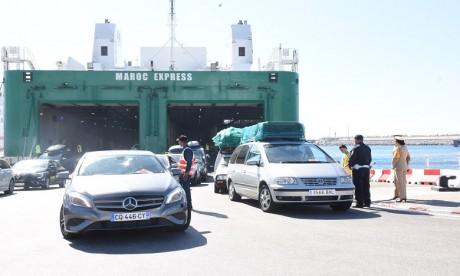 Plus de 842.000 passagers ont regagné le Maroc via le port Tanger Med