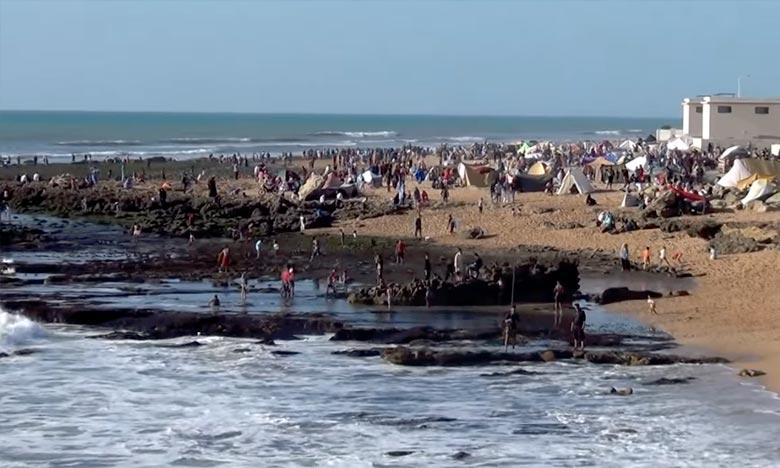 Les températures maximales sont variées entre 37 et 42 degrés sur le Sud-est et l'intérieur des provinces Sud, , la mer belle peu agitée à agitée entre Rabat et Boujdour. Ph : DR