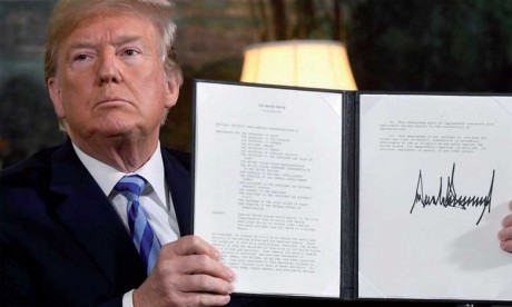 Les États-Unis rétablissent des sanctions  économiques contre l'Iran