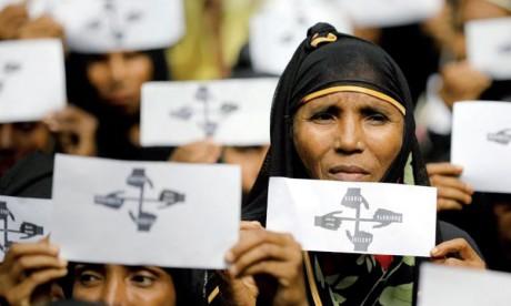 Des dizaines de milliers de musulmans Rohingyas ont manifesté dans les camps où ils ont trouvé refuge au Bangladesh pour demander justice à l'ONU. Ph. Reuters