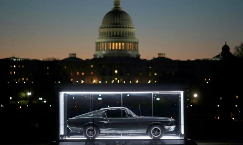 La Ford Mustang conduite par Steve McQueen dans le film «Bullitt» en 1968 est exposée à Washington. Ph : DR