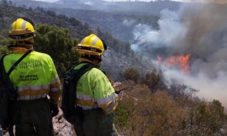 Un incendie de forêt fait des ravages en Espagne