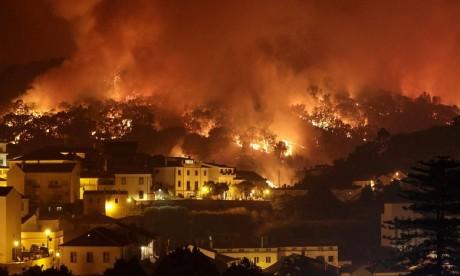 Portugal : un incendie s'étend sur 100 km de périmètre