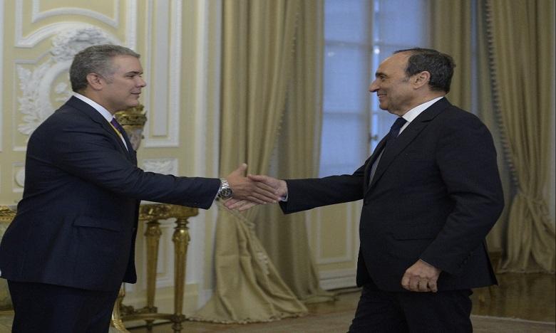 Le Président de la Chambre des Représentants a transmis au leader colombien les félicitations de Sa Majesté le Roi ainsi que ses vœux sincères de plein succès dans ses hautes fonctions.