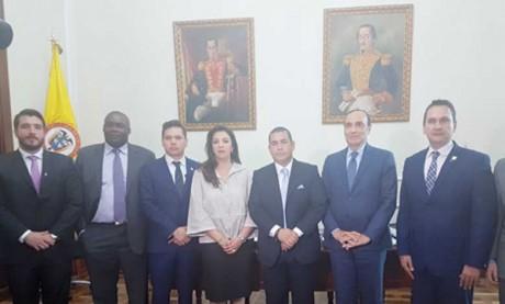 Habib El Malki s'entretient à Bogota  avec les présidents des deux Chambres  du Congrès colombien