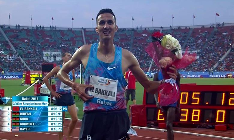 Le Marocain Sofiane El Bakkali, vice-champion du monde, a remporté la médaille d'argent de l'épreuve du 3.000 m steeple hommes, à Asaba au Nigeria. Ph : DR