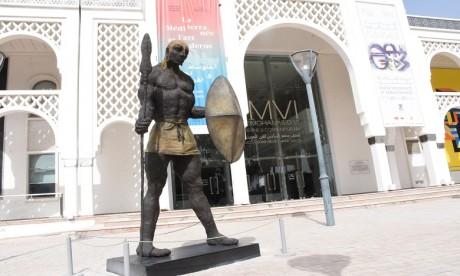 Le Guerrier Masaï d'Ousmane Sow au Musée Mohammed VI d'art moderne et contemporain